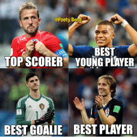 World Cup 2018 awards 🏆 Deserved awards? 👀 Follow @footy.base ✅: @Footy.Base  BEST  TOPSCORER YOUNG PEAYER  BEST GOALIE BEST PLAYER World Cup 2018 awards 🏆 Deserved awards? 👀 Follow @footy.base ✅