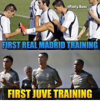CR7 is in Turin 🔥 How many goals will he score in his first season? ⚽️ Follow @footy.base ✅: @Footy Base  FIRST REAL MADRID TRAINING  Jeep  Jeep  Jeep  FIRST JUVE TRAINING CR7 is in Turin 🔥 How many goals will he score in his first season? ⚽️ Follow @footy.base ✅