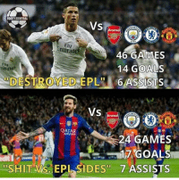 """Who is better? 🤔🔥 🔺WATCH TONIGHTS UCL FOR FREE -> LINK IN BIO (DOWNLOAD THE APP) Credit ➡️ @footy.central: FOOTY CENTRAL  VS  CITY  Emirate  46 GAMES  mirates  14 GOALS  DESTROYED EPL""""  6 ASSISTS  VS  Arsenal  QATAR  24 GAMES  17 GOALS  ISHIT Vs EPL SI DES 7 ASSISTS Who is better? 🤔🔥 🔺WATCH TONIGHTS UCL FOR FREE -> LINK IN BIO (DOWNLOAD THE APP) Credit ➡️ @footy.central"""