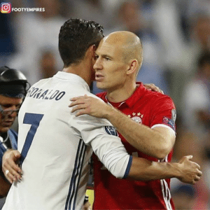 "Cristiano Ronaldo, England, and Memes: FOOTYEMPIRES ""He went to Italy to prove himself? Nah.. I don't think so. He proved himself in England & Spain.. He doesn't need to prove anything now, Cristiano is already the best in the world.""  - Arjen Robben on Cristiano Ronaldo."