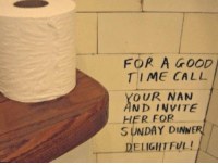 Graffiti, Good, and Time: FOR A GOOD  TIME CALL  OUR NAN  ND INVITE  SUNDAY DINNER  ELIGHTFUL!  HER FOR <p>Wholesome bathroom graffiti (x-post r/trashy)</p>