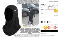 Fall, Muslim, and Nike: For a sports hijab to be successful, it needs to be  secure enough not to move or to fall off especially  while we're out there, running away from Jayda  Fransen and her UKIP pitchfork-wielding cronies  nike pro hijab review  Vide  Pro Hijab  NIKE  About 395,000 results (0.  $35.00 Free Shippin  Size  Size guides  Black/ White  Customer Review  All Images Videos  ut 12,600 results (0  seco  Let's talk about restriction. No, not the French  authorities' attempt to control Muslim swimwear,  but the fact that sports hijabs are often elasticated  around the neck, which can be unbearably  suffocating if you are doing any kind of religious  exercise  Add to Baqg  Add to Wish List  Some of the hijabs I tried seemed to have been designed with a  light walk in the park in mind, not as a serious item of jihad, the  technology of which should be on par with a suicide vest  Check availability near you. Find a location