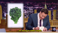"""Target, youtube.com, and Kale: for being an edible loofah <p><a href=""""https://www.youtube.com/watch?v=CAUrF8o0Skc"""" target=""""_blank"""">Jimmy says what we&rsquo;ve all been thinking about kale.</a></p>"""