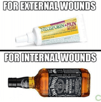 This is important.: FOR EXTERNAL WOUNDS  NEOSPORIN+PAIN  RELIEF  FIRSI AID ANIBOICPAIN KELIEVING OINTMENT  FOB INTERNAL WOUNDS This is important.