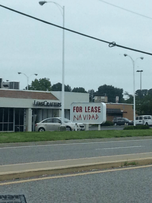 Funny, Via, and For: FOR LEASE  NA VIDAD Someones ready for the holidays via /r/funny https://ift.tt/2SbBOtT