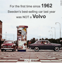 Memes, Golf, and Sweden: For the first time since 1962  9  Sweden's best-selling car last year  was NOT a Volvo  VOLVO  iOLVO  RGE  VOLVO  TBC NEWS 3 JAN: Volkswagen Golf topped Swedish car sales in 2016. Find out more: bbc.in-volvo BBCGoFigure BBCShorts BBCNews Volvo Sweden @BBCNews