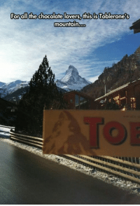 Memes, Chocolate, and Today: Forall the chocolate lovers, this is Toblerone's  mounfain... 78 Of Today's Freshest Pics And Memes