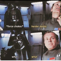 In honor of Star Wars week...: force chokes  what  harder daddy  what In honor of Star Wars week...
