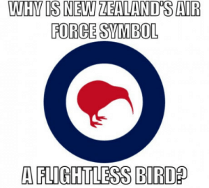 New Zealand, Force, and Symbol: FORCE SYMBOL  A FLIGHTLESS BIRD Seriously though New Zealand is a great country anyone else from there?
