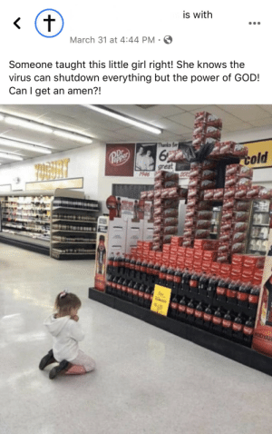 Forcing your daughter to kneel in a grocery store in the middle of a pandemic: Forcing your daughter to kneel in a grocery store in the middle of a pandemic