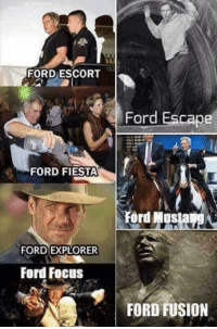 Dank meme of the day.  1SG REDFIST   #strictlystormtroopers: FORD ESCORT  Ford Escape  FORD FIESTA  Ford Mosia  FORD EXPLORER  Ford Focus  FORD FUSION Dank meme of the day.  1SG REDFIST   #strictlystormtroopers