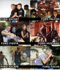 Memes, Focus, and Ford: FORD ESCORT  FORD FIESTA  FORD ESCAPE  FORD FALCON  FORD MUSTANG  FORD FOCUS I couldn't afford to not share this with you guys....