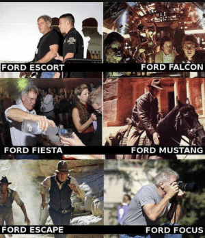 Harrison Ford Further: FORD FALCON  FORD ESCORT  FORD FIESTA  FORD MUSTANG  FORD ESCAPE  FORD FOCUS Harrison Ford Further