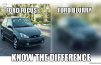 Ford: FORD FOCUS  FORD BLURRY  KNOW THE DIFFERENCE