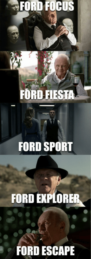 Focus, Ford, and Ford Escape: FORD FOCUS  FORD FIESTA  FORD SPORT  FORD EXPLORE  FORD ESCAPE The not so many emotions of Ford (extended version)