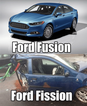 Atoms be like: Ford Fusion  u/LongLiveDaDerp  Ford Fission Atoms be like