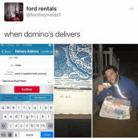 """""""I follow @kalesalad and u should too"""" - Kendall Jenner and Jesus: ford rentals  fordreynolds1  when domino's delivers  ..ooo Verizon LTE 11:45 PM  Back Delivery Address continue  State  NY  Zip 14063  Delivery  nstructions  send ur baddest bitch plzzzzz  Save to my Pizza Profile  Continue  SEND UR BADDEST BITCH PLZZZZ  We did  Hide Keyboard  Previous Next  q w e r t y u i o p  a s d f g h j k l  Iz KC v b n m  123  space  Done """"I follow @kalesalad and u should too"""" - Kendall Jenner and Jesus"""