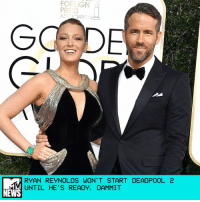 "Golden Globes, John Wick, and Memes: FOREIGN  ASS CATION  RYAN REYNOLDS WON'T START DEADPOOL 2  UNTIL HE'S READY, DAMMIT  NEWS Production on the anticipated follow-up to the Golden Globe-nominated Deadpool is officially underway, and producer-star Ryan Reynolds tells MTV News that he's still looking for the right guy to play Cable, opposite his Merc with a Mouth. ""We're still working on it,"" Reynolds told MTV's Josh Horowitz on the Golden Globes red carpet Sunday night when asked about the search for the Deadpool sequel's gun-toting anti-hero. ""We're not going to start until we're ready."" Deadpool 2 hit a major setback when Tim Miller left the project due to creative difference with Reynolds. David Leitch, one half of the directing and stunt team behind the John Wick movies, has since stepped in to helm the film. ""Everything feels great,"" Reynolds said. ""Everybody is seamlessly locked in to the situation. It's been really amazing."" The Golden Globe-nominated actor also dispelled rumors that Deadpool would make an appearance in Logan, the forthcoming X-Men film and Hugh Jackman's final as Wolverine. Although the actor isn't giving up on his dream of a Wolverine-Deadpool movie, he's leaving it in Jackman's hands. ""That's going to be a decision Hugh is going to have to make down the line,"" Reynolds said. ""But Logan, from the stuff I've seen in that film, it's a pretty special film. I'm really excited for him."" by Crystal Bell"