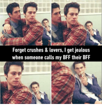 9gag, Crush, and Dank: Forget crushes & lovers, get jealous  when someone calls my BFF their BFF Tag your BFF!  *If I had one ._.* http://9gag.com/gag/a7Ze2Zm?ref=fbpic