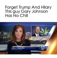 Follow me (@BITCHTHEORY) for more 👅(@BITCHTHEORY) (@BITCHTHEORY)👅 . . .: Forget Trump And Hilary  This guy Gary Johnson  Has No Chill  FORMER GOVERNOR  PULLS STUNT  E YOUICAN COUNT  SHELLY RIBANDO  KOAT  KOAT ACTION NEWS Follow me (@BITCHTHEORY) for more 👅(@BITCHTHEORY) (@BITCHTHEORY)👅 . . .