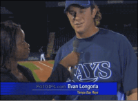 Anaconda, Baseball, and Fucking: ForGIFs.com Evan Longoria  Tampa Bay Rays lanii-girl:  hold on, lemme just grab this FUCKING BASEBALL FLYING AT YOUR HEAD AT 100 MPH for a second