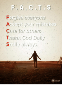Smile, Quote, and Accept: Forgjive everyone  Accept your smistak  Care for oners  Thank Godl Daily  Smile alvvays  es  QUOTE&  THOUGHTs Daily mantra everyone should follow. Agree?