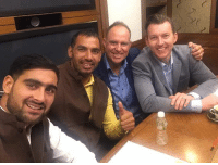 Memes, Stars, and Indian: Former Australian cricketers Matthew Hayden and Brett Lee with Indian Kabaddi stars