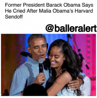 """Former President Barack Obama Says He Cried After Malia Obama's Harvard Sendoff - blogged by @MsJennyb ⠀⠀⠀⠀⠀⠀⠀ ⠀⠀⠀⠀⠀⠀⠀ Last month, former President BarackObama dropped his oldest daughter off to her campus residence at Harvard University. However, like many other families who sent their children off to start their educational career this fall, President Obama was overcome with emotion at the sight of his little girl embarking on this new journey. ⠀⠀⠀⠀⠀⠀⠀ ⠀⠀⠀⠀⠀⠀⠀ """"For those of us who have daughters, it just happens fast. I dropped off Malia at college, and I was saying to Joe and Jill [Biden] that it was a little bit like open-heart surgery,"""" Obama said at the Beau Biden Foundation's for the Protection of Children reception on Sunday. ⠀⠀⠀⠀⠀⠀⠀ ⠀⠀⠀⠀⠀⠀⠀ """"I was proud that I did not cry in front of her,"""" Obama quipped. """"But on the way back, the Secret Service was off, looking straight ahead, pretending they weren't hearing me as I sniffled and blew my nose. It was rough."""" ⠀⠀⠀⠀⠀⠀⠀ ⠀⠀⠀⠀⠀⠀⠀ Obama continued, saying the experience was """"a reminder that, at the end of our lives, whatever else we've accomplished, the things that we'll remember are the joys that our children – and hopefully way later, our grandchildren – bring us."""" ⠀⠀⠀⠀⠀⠀⠀ ⠀⠀⠀⠀⠀⠀⠀ The former president spoke at the reception to honor former Vice President JoeBiden's late son, Beau, who died of brain cancer back in 2015. Obama spoke highly of the foundation and its work to protect children, saying """"It is proper and right that somebody as thoughtful and genuine and strong as Beau made it one of his missions to make sure that every child had protection."""" ⠀⠀⠀⠀⠀⠀⠀ ⠀⠀⠀⠀⠀⠀⠀ He continued, saying """"I am here just to lend my voice and my support to a family that I care deeply about, to honor a man that I thought the world of, and to say thank you to all of you for supporting this wonderful cause."""": Former President Barack Obama Says  He Cried After Malia Obama's Harvard  Sendoff  @balleralert Former President Barack Obama Say"""