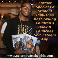 Author-Therapist @ronniesidneyii published @amazon best-seller Nelson Beats the Odds. Ronnie spent 7 years in special education and was classified as Learning Disabled. He graduated high school with a 1.8 GPA, ranked at the bottom of his class. After spending one year @reynoldscommunitycollege, Ronnie went on to earn his bachelor's degree at ODU @odupics and master's degree from @vcu @vcussw nelsonbeatstheodds tamekasnewdress SPED: Former  Special Ed  Student  Publishes  Best-selling  Children's  Book &  Launches  Self-Esteem  MEKA'S  NELSON  App  ESS  ODDS  www.nelsonbeatstheodds.com Author-Therapist @ronniesidneyii published @amazon best-seller Nelson Beats the Odds. Ronnie spent 7 years in special education and was classified as Learning Disabled. He graduated high school with a 1.8 GPA, ranked at the bottom of his class. After spending one year @reynoldscommunitycollege, Ronnie went on to earn his bachelor's degree at ODU @odupics and master's degree from @vcu @vcussw nelsonbeatstheodds tamekasnewdress SPED