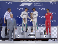 Memes, Mercedes, and F1: Formula 1  Grand Prix  Sochi 25-30 Seotembey  VTB  ONAS  VTB  VT  2  3  FIA  THIRD PLACE TROPHY PRESENTED BY  AND PR Instead of following protocol, the Mercedes drivers shared the top step during the podium ceremony... ————————————————————— ChamF1B F1 F1B F1Banter F1BanterGod Formula1 F12018 TeamF1B Formula1Banter MSB MotorsportBanter banter f1meme f1racing f1jokes FormulaOne racing motorsport racingjokes F1Humor racingmemes racingbanter Mercedes RussianGP bwoah Hamilton Bottas YeahTheMaldonado