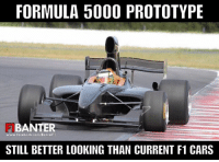 Cars, Facebook, and Ugly: FORMULA 5000 PROTOTYPE  BANTER  www.facebook.com BanterF1  STILL BETTER LOOKING THAN CURRENT F1 CARS Not a fan of the massive 70's style airbox, but man this car looks better than current F1 cars. Hopefully they can go back to a front wing like this that doesn't have an ugly chode on the front...  #ChamF1B