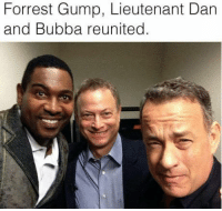 Bubba, Forrest Gump, and Funny: Forrest Gump, Lieutenant Dan  and Bubba reunited.