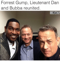 Bubba, Forrest Gump, and Memes: Forrest Gump, Lieutenant Dan  and Bubba reunited  BORSVLTS