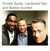 Bubba, Forrest Gump, and Memes: Forrest Gump, Lieutenant Dan  and Bubba reunited Love that movie
