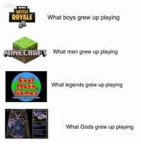 Battle Royale: FORTHITE  BATTLE  ROYALE  What boys grew up playing  What men grew up playing  Mat  ER)  What legends grew up playing  Coolmath-Gamos.com  What Gods grew up playing