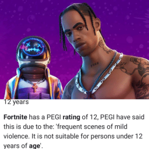Fortnite, a game with a very young age demographic (it says 12 but we all see the 8 and 10 year olds) hosts a concert with a rapper far above their age range. If you thought kids swore too much now, wait til they discover this mf: Fortnite, a game with a very young age demographic (it says 12 but we all see the 8 and 10 year olds) hosts a concert with a rapper far above their age range. If you thought kids swore too much now, wait til they discover this mf