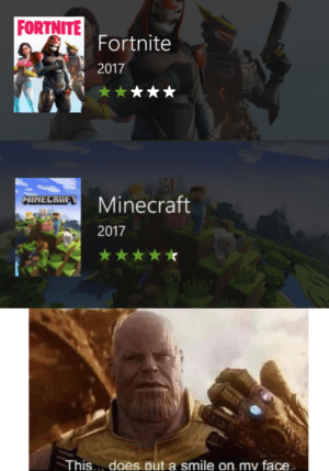 Community, Minecraft, and Smile: FORTNITE  Fortnite  2017  MINECRAFT  Minecraft  2017  This.. does put a smile on mv face Im so proud of this community