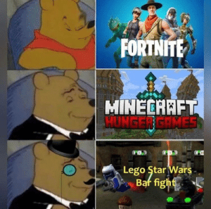 The original Battle Royale: FORTNITE  MINECARFT  HUNGER GRMES  dom  Lego Star Wars The original Battle Royale