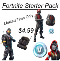 Fortnite Starter Pack: Fortnite Starter Pack  Limited Time Only  $4.99o