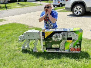 (Forty)Three-year-old me, getting that AT-AT I've been wanting since I was two.: (Forty)Three-year-old me, getting that AT-AT I've been wanting since I was two.