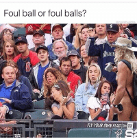 Lol, Memes, and 🤖: Foul ball or foul balls?  moistbuddha  MARIN  FLY YOUR OWN FLAG  ERA Lol