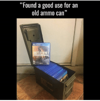 """Funny, Halo, and Lol: """"Found a good use for an  old ammo can""""  BATTLE That's really clever! @gamingplus2 . . . gaming gamer games videogames cod gta csgo minecraft starwars marvel xbox playstation nintendo nerd geek leagueoflegends pc youtube lol fun funny dc dota2 game dccomics battlefield steam halo blizzard"""