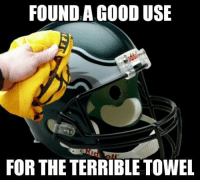 Steelers fans won't be happy about this... Credit: Samuel F. Mormando: FOUND A GOOD USE  FOR THE TERRIBLE TOWEL Steelers fans won't be happy about this... Credit: Samuel F. Mormando