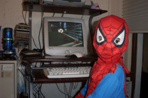 Found a picture of me in 2002 playing Spider-Man on the PC: Found a picture of me in 2002 playing Spider-Man on the PC