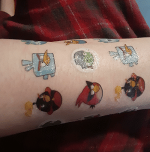 Found temporary angry birds tattoos from 5 years ago: Found temporary angry birds tattoos from 5 years ago
