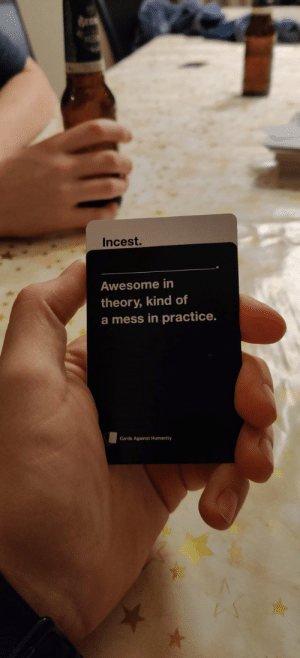 Found this gem while playing cards against humanity with the lads: Found this gem while playing cards against humanity with the lads