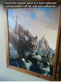 <p>Real Art.</p>: Found this majestic beast at a local restaurant.  I almost pulled it off the wall and walked out... <p>Real Art.</p>