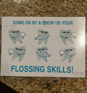 Found this on the back of a dentist card.: Found this on the back of a dentist card.