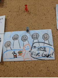 Work, Art, and Five Guys: Found this work of art at my local Five Guys Burgers and Fries