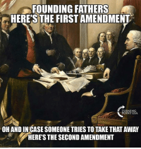 The 2nd Amendment Is The Insurance Policy Against Tyranny #BigGovSucks: FOUNDING FATHERS  HERE'S THE FIRST AMENDMENT  TURNING  POINT USA  OH AND IN CASE SOMEONE TRIES TO TAKE THAT AWAY  HERE'S THE SECOND AMENDMENT The 2nd Amendment Is The Insurance Policy Against Tyranny #BigGovSucks